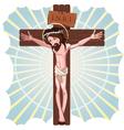 the crucifixion jesus christ vector image