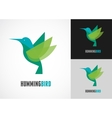 Tropical bird - humming icon vector image vector image