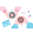 valentine s day greeting card female and male vector image vector image