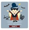 vampire halloween vector image vector image