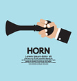 Vintage Horn With Hand vector image