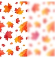 watercolor painted maple leaves background vector image