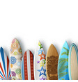 white background with surfboards vector image