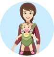 Young mother with baby vector image vector image