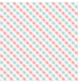 Seamless chekered pattern coral and turquoise vector image