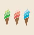 Ice Cream Colorful Set vector image