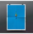 Paper banner with float fishing line underwater vector image