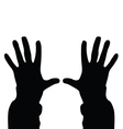 people hand vector image