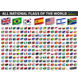 all national flags world inserted paper vector image vector image