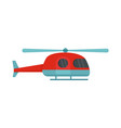 ambulance helicopter icon flat style vector image vector image