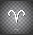 aries astrological symbol with shadow vector image
