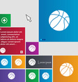 Basketball icon sign buttons Modern interface vector image vector image