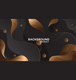 black gold abstract background 1 vector image vector image
