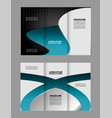 business brochure template design vector image vector image