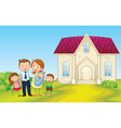 Cartoon Family House vector image vector image