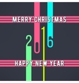 christmas and new year background made in vector image vector image