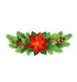 christmas poinsettia flower realistic vector image
