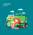 cinema industry flat style design vector image
