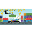 Container Cranes vector image vector image