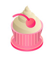 cupcake icon isometric style vector image vector image