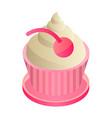 cupcake icon isometric style vector image