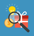 Efficient search concept Flat design stylish vector image vector image