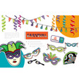 flat carnival bright composition vector image vector image