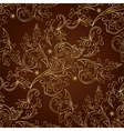 Floral vintage seamless pattern on brown backgroun vector image vector image