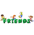 Font design for word friends vector image