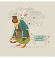 Funny bear and rabbit vector image vector image