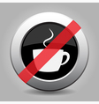 gray chrome button - no cup with smoke vector image