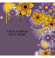Grunge Purple Floral Background with Text Space vector image vector image