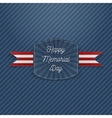 Happy Memorial Day Holiday Emblem vector image vector image