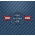 Happy Memorial Day Holiday Emblem vector image