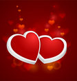 Heart with rim vector image vector image