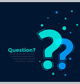 help and support page template with question mark vector image