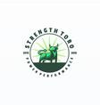 logo bull mascot cartoon style vector image