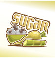 logo of sugar vector image vector image