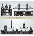 London landmarks and monuments vector image vector image
