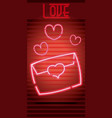 love neon sign vector image