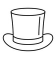 magic hat icon outline style vector image vector image