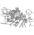 male barista making coffee at his shop vector image