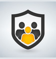 man people shield insurance icon vector image vector image