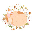 mouse rat sleeps in blades grass sleeping vector image