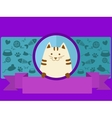 Pet shop banner with cat cartoon vector image