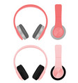 pink headphones vector image