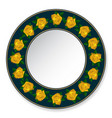 plate of yellow roses vector image vector image