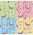 princess patterns set vector image vector image