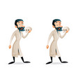 professor doctor lecture anatomy doctor education vector image vector image