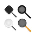 realistic 3d detailed frying pan set vector image vector image